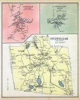 Fitzwilliam, Fitzwilliam Village, Fitzwilliam Depot, New Hampshire State Atlas 1892