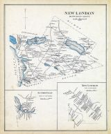 New London, New London Town, Sytheville Town, New Hampshire State Atlas 1892