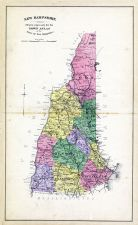 State Map New Hampshire, New Hampshire State Atlas 1892