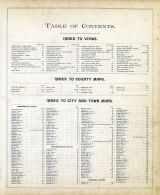 Table of Contents 1, New Hampshire State Atlas 1892