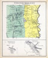 Webster, Boscawen, Webster Town, Soscawen Town, Canterbury, New Hampshire State Atlas 1892