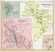 Wilton Town, Greenfield, Greenfield Town, Wilton Center, New Hampshire State Atlas 1892