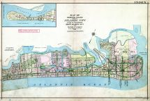 Index Map, Atlantic City 1908 Absecon Island - Ventnor - South Atlantic City - Longport