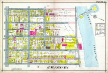 Plate 002, Atlantic City 1908 Absecon Island - Ventnor - South Atlantic City - Longport