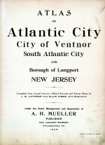 Atlantic City 1908 Absecon Island - Ventnor - South Atlantic City - Longport