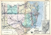 Atlantic County Map, Atlantic City 1924 Absecon Island Vol 2 Ventnor - Margate - Longport