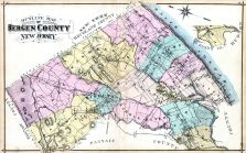 Outline Map, Bergen County 1876