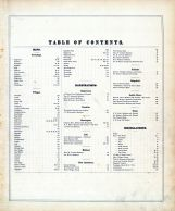 Table of Contents, Bergen County 1876