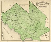 Cumberland County Map, Cumberland County 1876