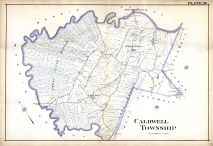 Caldwell New Jersey Map.Historic Map Works Residential Genealogy