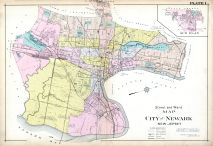 Newark - Ward Map and Plate 001, Essex County 1906 Vol 3