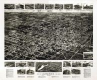 Hammonton 1926 Bird's Eye View 17x21, Hammonton 1926 Aero View