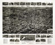 Hammonton 1926 Bird's Eye View 24x29, Hammonton 1926 Aero View
