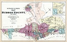 Index Map and County Outline, Hudson County 1873