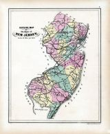 New Jersey Outline Map, Hudson County 1873