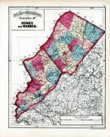 Sussex and Warren Counties, Hudson County 1873