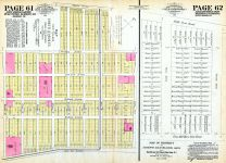Hoboken North 1852 - Pages 61 and 62, Hudson County 1882 Vol 1