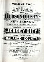 Title Page, Hudson County 1909 Vol 2 Excluding Jersey City