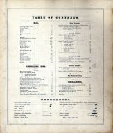 Table of Contents, Mercer County 1875