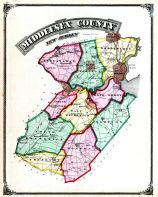 Middlesex County Map, Middlesex County 1876