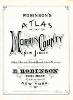 Title Page, Morris County 1887