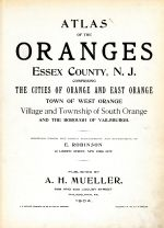 Title Page, Oranges and Essex County 1904 Vol 1
