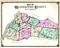Gloucester County Map, Salem and Gloucester Counties 1876