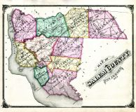 Salem County Map, Salem and Gloucester Counties 1876