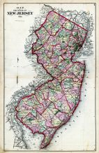 New Jersey State Map, Warren County 1874