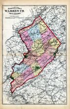 Warren Co. - Topographical Map, Warren County 1874