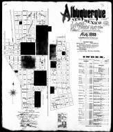 Index Map and Street Index, Albuquergue 1893