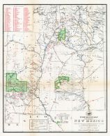 New Mexico 1902 Post and Railroad Route Map, New Mexico 1902 Post and Railroad Route Map