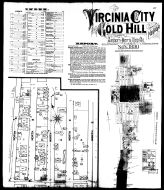 Index Map, Street Index, Plate 001, Virginia City and Gold Hill 1890