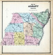 Albany County Map, Albany and Schenectady Counties 1866