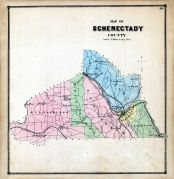 Schenectady County Map, Albany and Schenectady Counties 1866