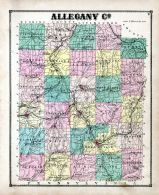 Allegany County Map, Allegany County 1869