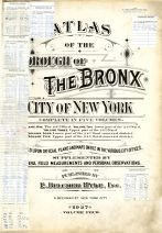 Title Page, Bronx Borough 1927 Vol 4 Revised 1977