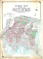 Zoning Map, Bronx Borough 1927 Vol 4 Revised 1977