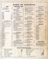 Table of Contents, Broome County 1876
