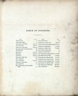 Table of Contents, Buffalo 1872