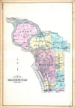 Outline Map of Greater Buffalo, Buffalo 1915 Vol 3 Suburban