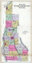 Cayuga County Map, Cayuga County 1904