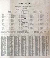 Table of Contents and Farm Index, Cayuga County 1904