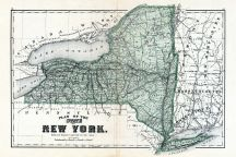 New York State Map, Chautauqua County 1881