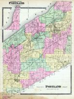 Portland Township - North, Prospect Station P.O., Brockton P.O., Van Buren Point, Chautauqua County 1881