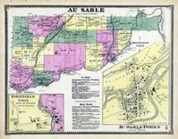 Au Sable Township, New Sweden, Clintonville, Birmingham Falls, Keeseville, Clinton County 1869