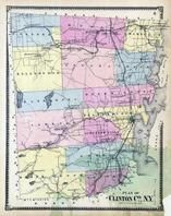 Clinton County Map, Clinton County 1869