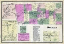 Mooers Township, Woods Falls, Thorns Corners, Great Chazy River, Cherubusco, Clinton County 1869