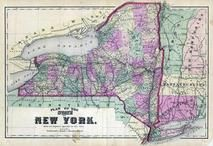 New York State Map, Clinton County 1869
