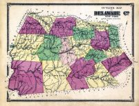 Outline Map, Delaware County 1869